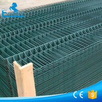 New design green vinyl coated welded wire mesh fence OEM