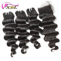 XBL grade 8A virgin cuticle aligned brazilian remy hair loose deep wave