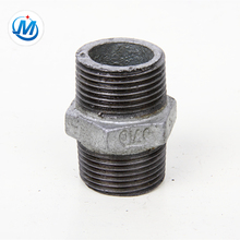 gi pipe fitting hex nipplel,male hex nipple,double thread pipe nipple