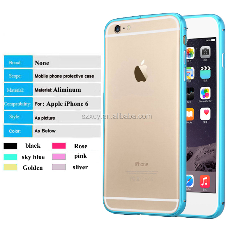 <strong>Hot</strong>!!! universal Aluminum metal bumper mobilt phone case for iphone 6 6s