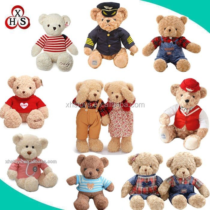 wholesale 35cm sitting plush teddy bear stuffed bear teddy & plush toy bear & teddy bear plush