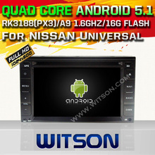 WITSON Android 5.1 CAR DVD PLAYER NAVIGATION For NISSAN Universal WITH CHIPSET 1080P 16G ROM WIFI 3G INTERNET DVR SUPPORT