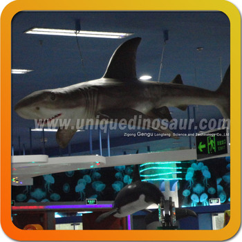 Ocean Park Attraction Decoration Equipment Mechanical Shark