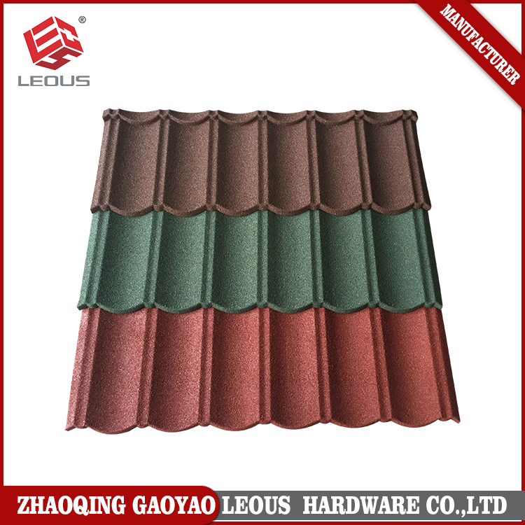 First class mixed color stone coated steel roofing tile for garden building