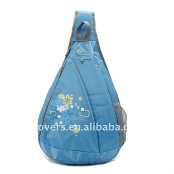 new colorful style one side school bag with single trap