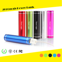 Wholesale universal portable Power Bank 18650 battery charger 1800~2600mAh promotion powerbanks for mobile phone