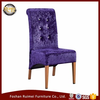 Simple Design Metal Dining Room Fabric Chair