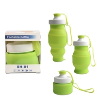 Soft Packable Sports and Travel FDA Certified Non Toxic Silicone Foldable Collapsible Water Bottle