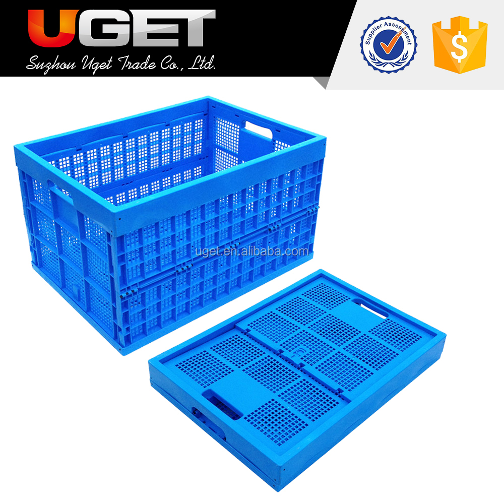 China Manufacture Fruit & Vegetable Storage Folding Plastic Crate