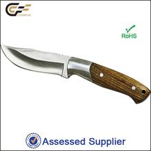 3Cr13 stainless steel 52HRc hardness outdoor fixed blade zebra wood handle hunting knife