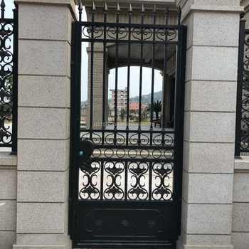 Luxury villa wrought iron single door