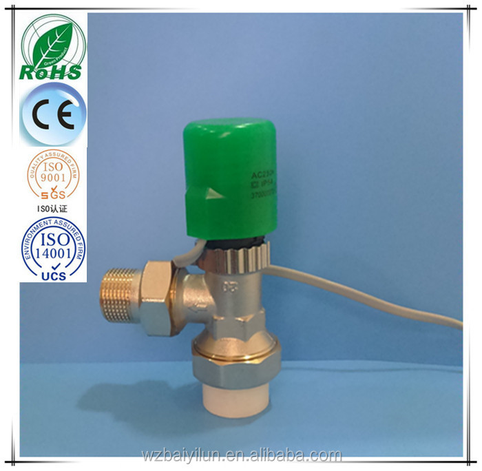 Brass PPR Pipe Joint Valve & hydraulic water heater electric actuator