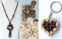 Coconut Beads Necklace, Keyring, Hair Pin, Beads