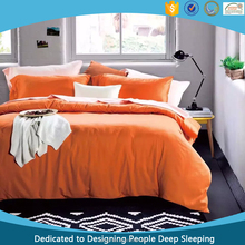 High Grade Orange 100 Long Staple Cotton Bed Sheet and Pillowcase Sets 300 TC