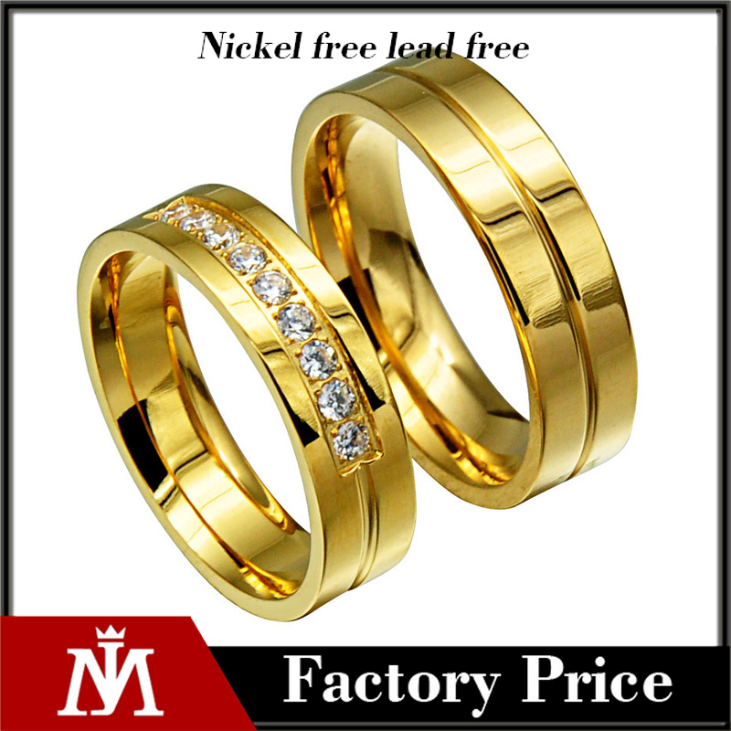 Valentine's day gift 18k gold silver tone 316Lstainless steel interchangeable Rhinestones wedding ring