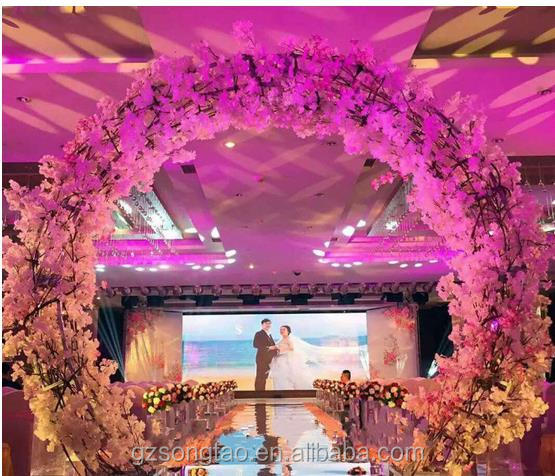 China New design wedding decoration artificial flowers Wedding arches