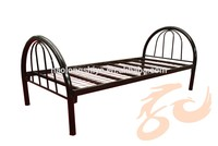 High quality folding single bed /metal bed frame/foldable steel bed