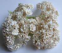 White Mulberry Paper Flower For Mini Embellishment Craft Scrapbook Decorate