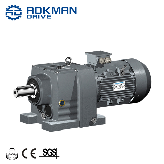 Up To 18000Nm Torque Foot or Flange Mounted AOKMAN RF Series helical gear box motor best price