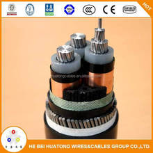 TUV/CE certified 33kv MV aluminum Conductor XLPE Cable 120mm2