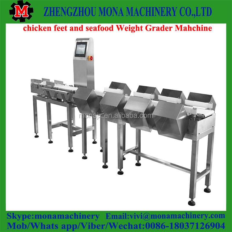Chicken wings/legs weight sort machine, processing equipment for frozen food