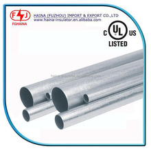 UL listed galvanized steel pipe price per meter emt