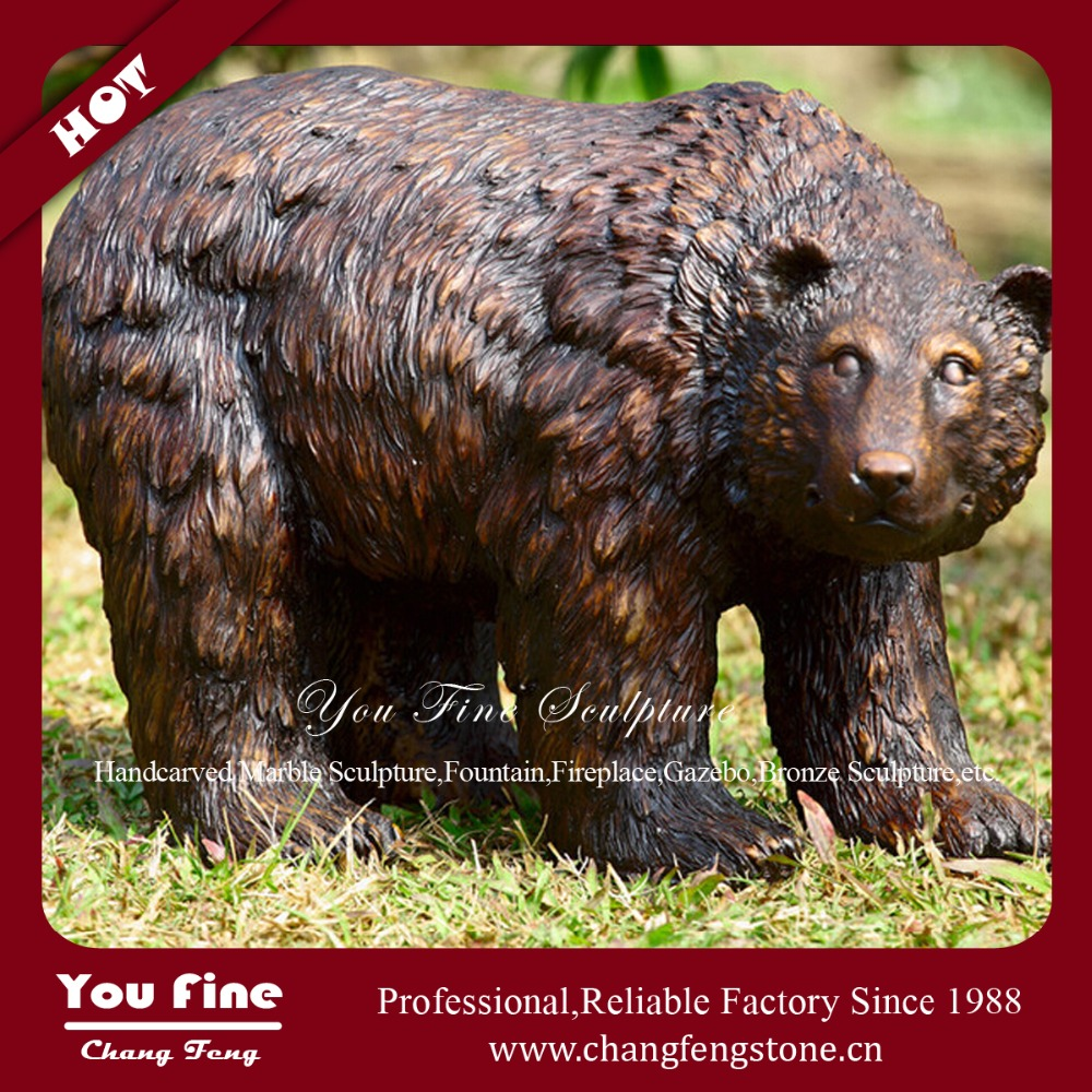 Outdoor Garden Bronze Bear Statue For Decoration