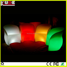 outdoor plastic furniture LED arm chair for garden