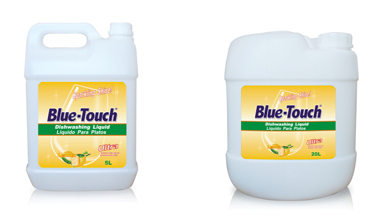 manufacturer blue touch liquid antibacterial dishwashing detergent-lemon/green tea