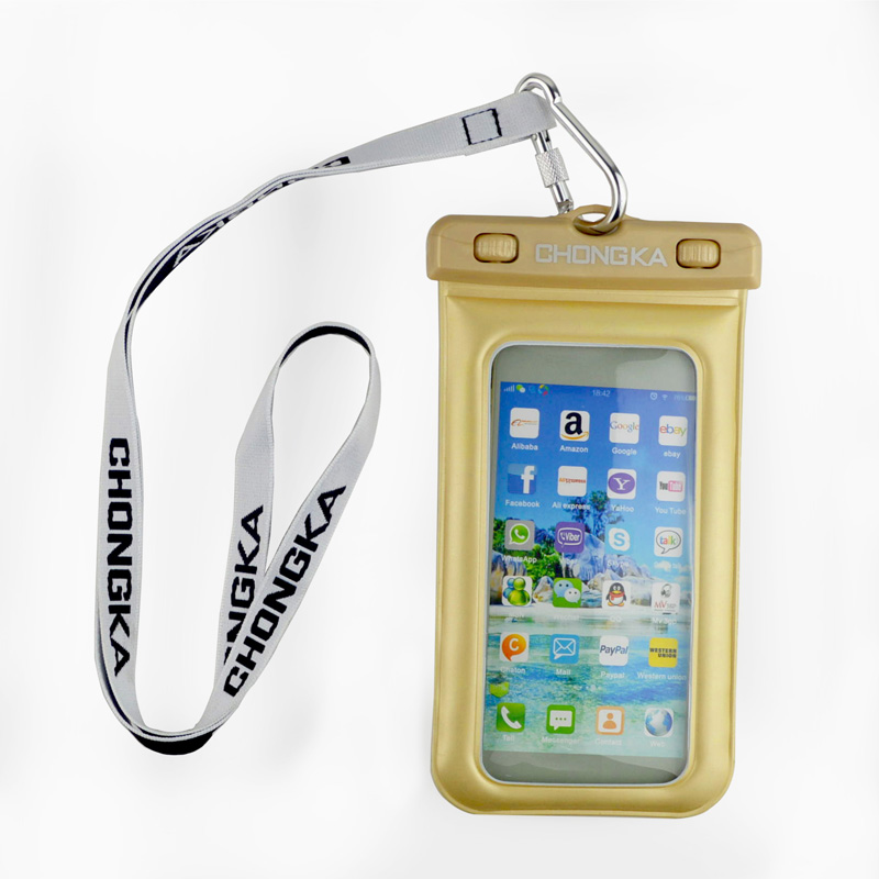 Promotional Low Cost Plastic IPX8 Waterproof Mobile Phone Bag