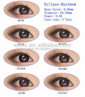 wholesale colored contacts 16mm Eclipse rainbow korean contact lens