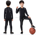 2018 new hotselling amazon kids children gym fitness wear mens compression shirt