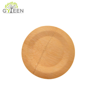 Wholesale Food Serving Custom Dinner Wedding Disposable Round Bamboo Plate