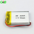Recharge lithium-ion li-polymer lipo battery 602535 3.7v 500mah for learning tools