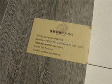 Best factory prices brushed white European oak wood flooring-LUO1004-01