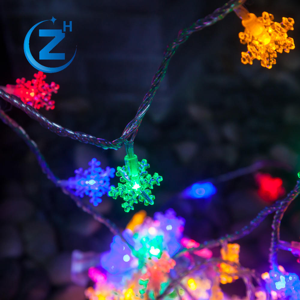 Color changing OEM ODM wholesale rgb holiday waterproof fairy curtain string chain window decorative flashing snowflake light