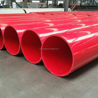 red large diameter UHMWPE plastic pipe