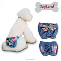 Hot sale Jeans Demin Design Washable Female Sanitary Pet Diapers