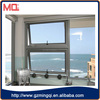 factory price aluminum low-e glass top-hinged swinging window for living room