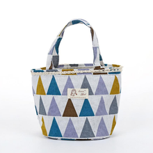 Tote Lunch Bag Plaid Pattern Insulated Thermo Bag Tote Cooler Bag Drawstring Handbag Container Lunchbox