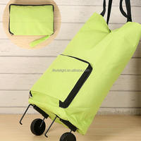Supermarket Foldable Shopping Trolley Bag With
