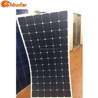 shinefar New Energy 220w High Efficience flexible solar panel with Battery Charger