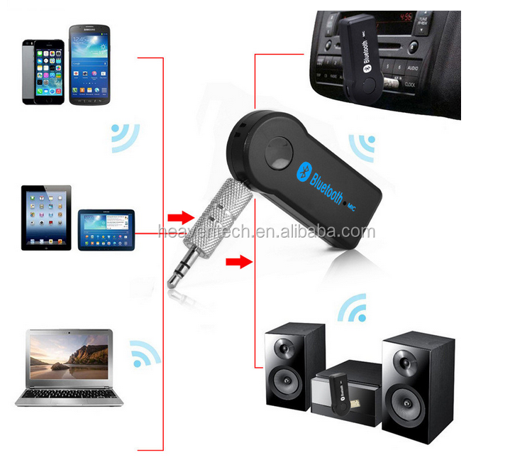 3.5mm Wireless Car Kit Handsfree Stereo USB Bluetooth Audio Music Receiver for MP3 wireless mini stereo music bluetooth car kit