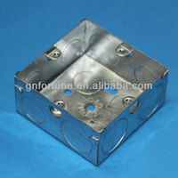 BS4662 Metal back box switch box manufacturer