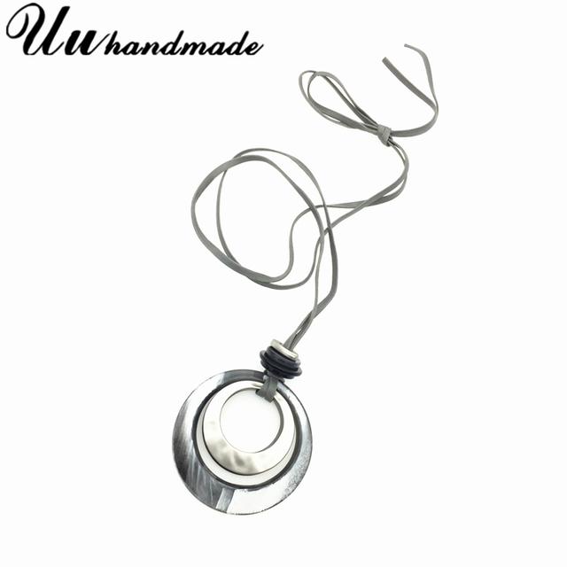 Модное Длинное быстрое акриловое ожерелье с подвеской Женские