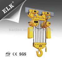 20 ton remote control electric hoist with electric trolley