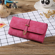 New Summer PU Leather <strong>Wallets</strong> Women Long Purse Lattice Coin Purses Lady Clutch Arrow Hasp <strong>Wallet</strong> 3 Fold Card Holder
