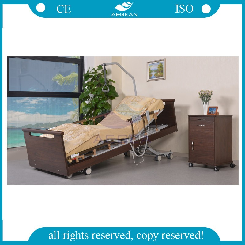 AG-W001 hospital healthcare furniture wood low position used nursing home beds