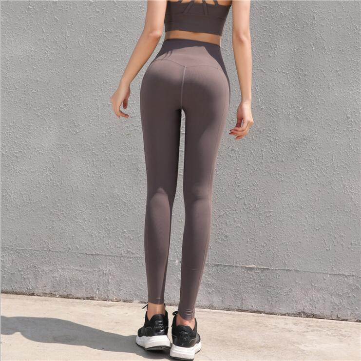 Ladies High-Waisted Nylon 4 Stretch Workout Fitness Running Legging Custom Women Yoga Wear
