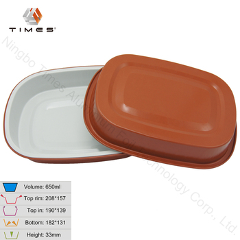 Microwaveable color smoothwall coated food preserving aluminum foil container